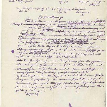 Dokument 2 über den Schlossbrand von 1929