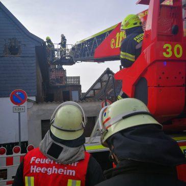 """Feueralarm Heegheim ,,Nachlöscharbeiten"""""""