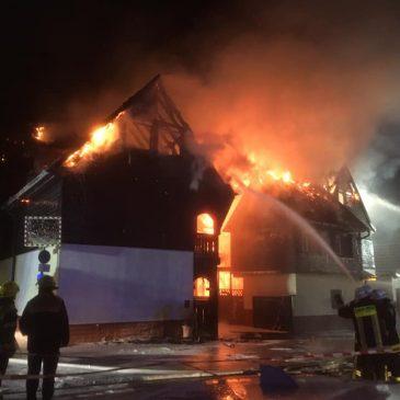 Großeinsatz Wohnhausbrand in Heegheim