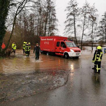 Hochwasser Einsatz 1 in Lindheim
