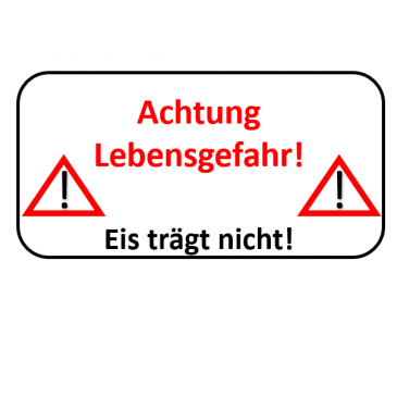 Warnung vor brüchigem Eis