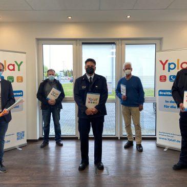 YplaY übergibt Spende an vier Lindheimer Vereine