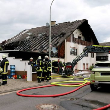 Dachstuhlbrand in Rodenbach