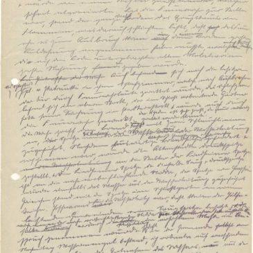 Dokument 4+5 über den Schlossbrand von 1929