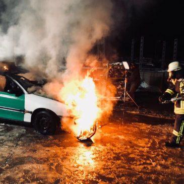 Brandsicherheitsdienst bei Videodreh