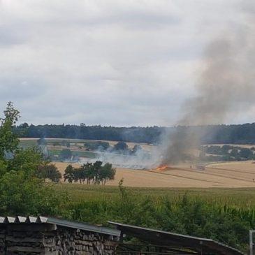 Acker im Flächenbrand