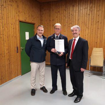 Verleihung des Ehrenbrief des Landes Hessen.