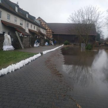 Hochwasser Einsatz 2 in Lindheim