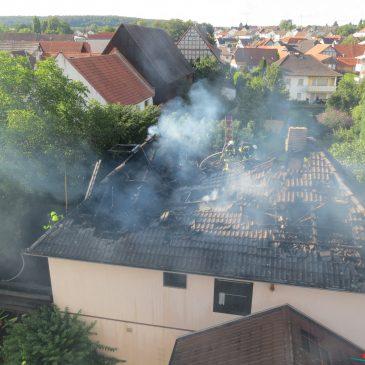 Dachstuhlbrand in Altenstadt